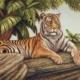Bengal tiger Yukteswar art print