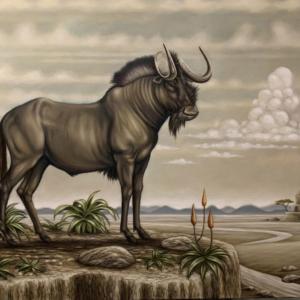 Black Wildebeest art print