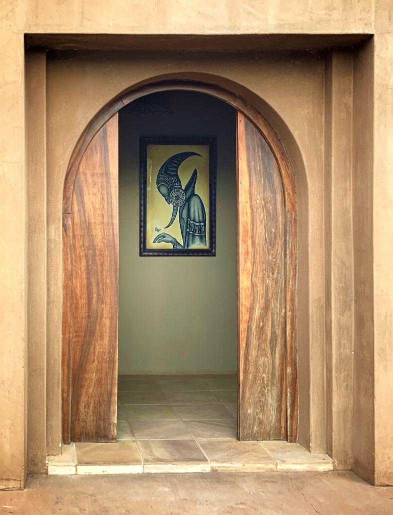 boondocks entrance door with artwork